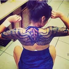 tattoo angel wings back blackandwhite woman uncategorized
