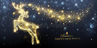 christmas magic deer stock vector image 78680579