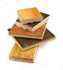 prefinished hardwood floors isolated stacked prefinished hardwood flooring samples stock photo