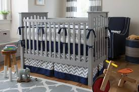 Blue And Yellow Crib Bedding Picture Astounding Blue And Gray Baby Boy Bedding Navy Chevron