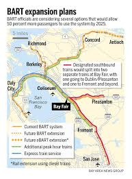 bart extensions bart expansion plans express trains more frequent service the