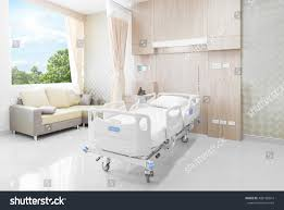 hospital room beds comfortable medical equipped stock photo
