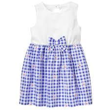 toddler seaside blue gingham dress by gymboree