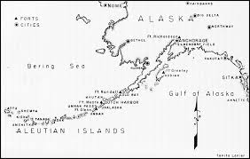 map of aleutian islands hyperwar the army air forces in wwii vol iv the pacific