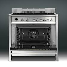 Dual Gas And Wood Burning Fireplace by Smeg Opera 36 Inch 5 Burner Dual Fuel Natural Gas Range