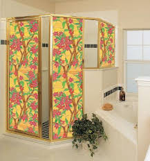 decorative glass shower doors decorative window film replaces stained glass
