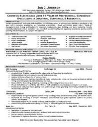 Electrician Resume Example Download Electricians Sample Resume Haadyaooverbayresort Com