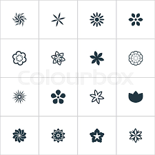 vector illustration set of simple icons elements lilac