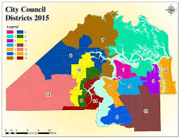 Jacksonville Florida Map by File 2015 City Council Districts Of Jacksonville Pdf Wikipedia