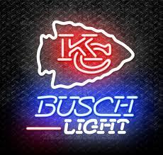 busch light neon sign busch light nfl kansas city chiefs neon sign for sale neonstation