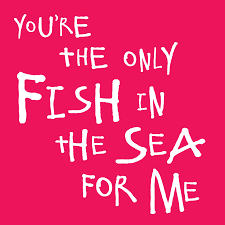 fish valentines only fish in the sea for me s day card by megan
