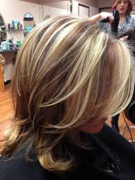 dark brown hair with blonde hair highlights hairstyle picture magz