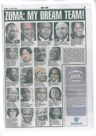 South African Cabinet Ministers Pictures Zuma My Dream Team Daily Sun Gender Links