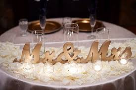 mr mrs sign for wedding table amazon com wooden mr and mrs sign for wedding sweetheart table