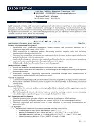 Sample District Manager Resume Retail Sample Resume Regional District Manager Regional District