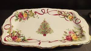 royal albert country roses tree sandwich tray new in
