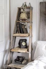 Diy Leaning Ladder Bathroom Shelf by Ladder Shelf House Pinterest Shelves Reclaimed Furniture