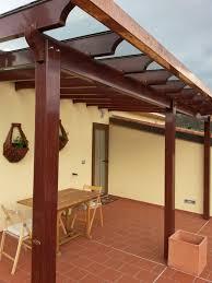 tettoie in legno e vetro tettoia simil legno con copertura in vetro