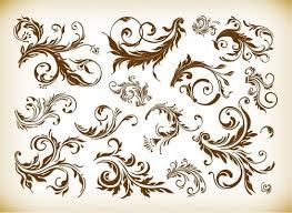 vector vintage ornamental design elements free vector