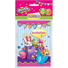 Shop Invitation Card Shopkins Invitations 8ct Walmart Com