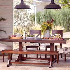 mahogany verona trestle table world market