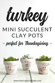 simple thanksgiving craft double duty mini succulent planter from halloween to