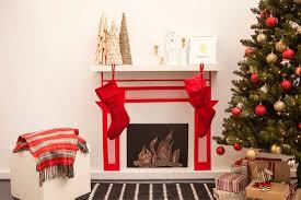 wohnideen zu basteln weihnachten am kamin dekokamin aus pappe basteln diy