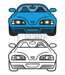 vector illustration car coloring book royalty free cliparts