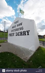 free derry corner with flag at half mast derry londonderry