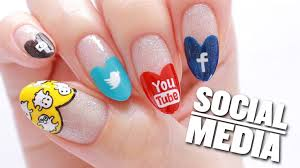 social media nail art design snapchat instagram youtube