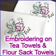 Machine Embroidery Designs For Kitchen Towels Embroidering On Tea Towels Flour Sack Towels Machine