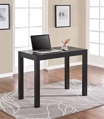 Copenhagen Desk Amazon Com Ameriwood Home Parsons Desk With Drawer Black Oak