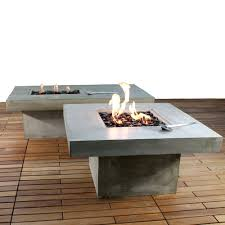 Cement Patio Table by Zement Bauhaus Modern Concrete Patio Coffee Table And Fire Pit