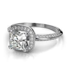 princess cut halo engagement ring 1 2 carat princess cut halo engagement ring platinum