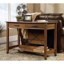 sauder carson forge washington cherry storage console table 414443