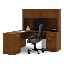 Solid Wood L Shaped Desk Bestar Embassy L Shape Home Office Wood Computer Desk Set With