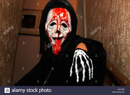wearing scary mask halloween stock photos u0026 wearing scary mask