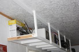 diy hanging garage shelves business card size net
