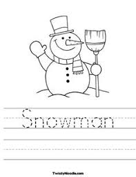snowman decoration worksheets snowman and coloring pages