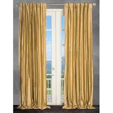 Gold Metallic Curtains Metallic Gold Curtains Wayfair