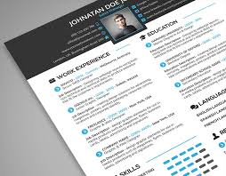 creative resume cover letter portfolio 3 in 1 psd template