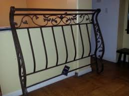 elegant wrought iron sleigh bed head and foot board montclair
