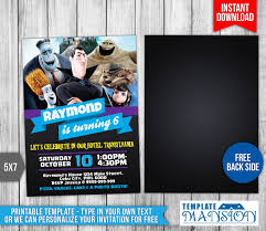 hotel transylvania birthday invitation 2 templatemansion