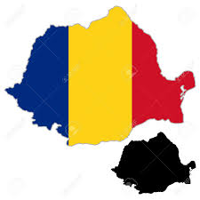 Romania Blank Map by Romania Map Flag On A White Background Vector Illustrator