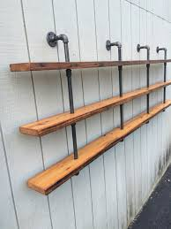 bookshelf vintage industrial three shelf bookcase with