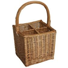 wine basket jvl wicker 4 bottle wine basket home storage baskets