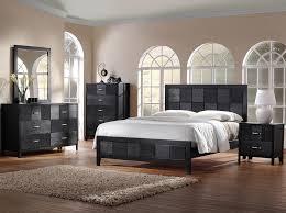 Designer Bedroom Sets Montserrat Black Wood 5 Modern Bedroom Set Home Furniture