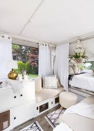 Scandinavian Decor On A Budget A Used Pop Up Camper A Tight Budget And Chic Scandinavian Style