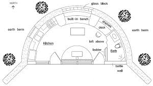 berm house floor plans earth bermed natural house plan