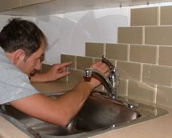 Brown Subway Tile Backsplash by Kitchen Remodeling Contractors Renovationexperts Com